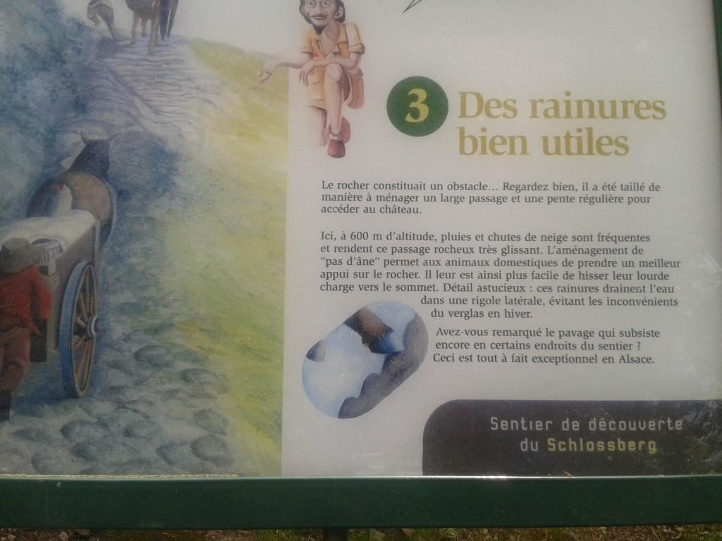 Réponse à la troisième question. Ces fameux aménagements s'appellent des pas d'âne.